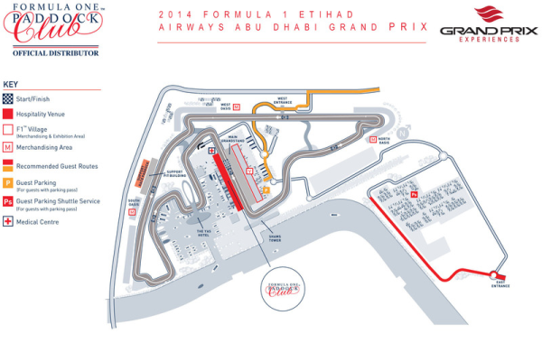 Grand Prix Experiences Formula One Grand Prix Championship Circuit Map Race Track 2014 Formula 1 Etihad Airways Abu Dhabi Grand Prix resized 600