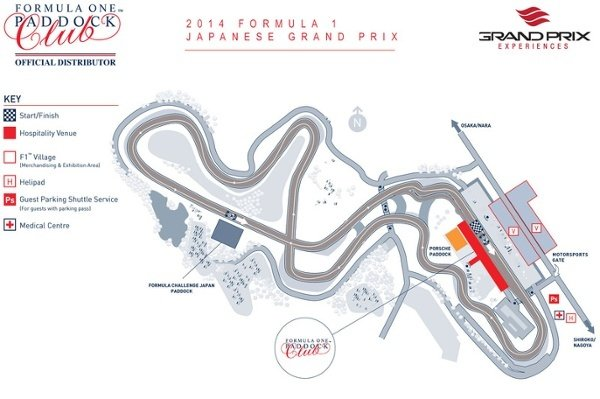 Grand Prix Experiences Formula One Grand Prix Championship Circuit Map Race Track 2014 Formula 1 Japanese Grand Prix