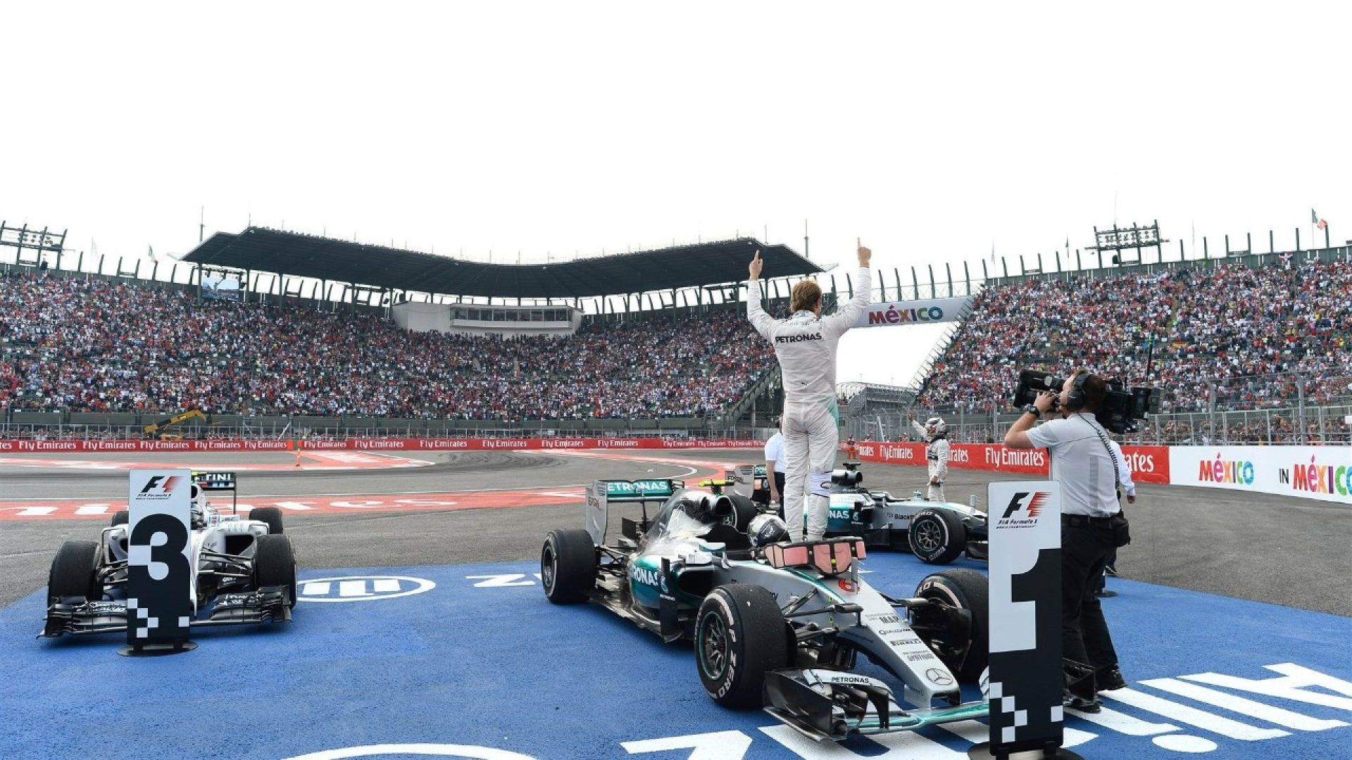 Nico Rosberg after winning the Mexico Grand Prix